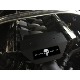 Aluminum Engine Cover Plate [S17] -  Punisher Silver (2015-2017 Mustang)